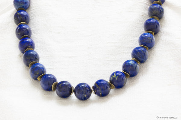 LAPIS LAZULI WITH GOLD SEPARATORS