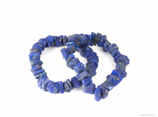 Lapis Lazuli Bracelet with rough afghan Lapis from Montreal jewellery designer www.elysee.ca
