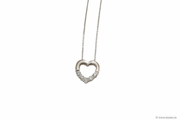Mothers day promo - gold and diamond heart pendant