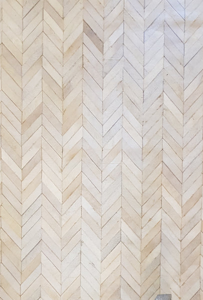 Chevron Design, 100% Hair-on-Hide
