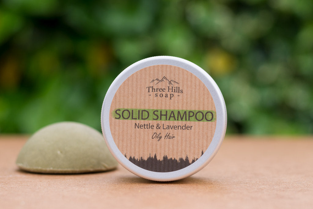Three Hills Solid Shampoo Nettle and Lavender For Oily Hair