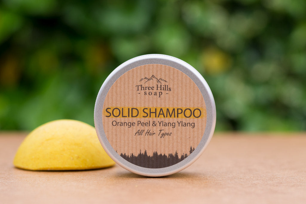 Three Hills Solid Shampoo Orange Peel Ylang Ylang For all hair types