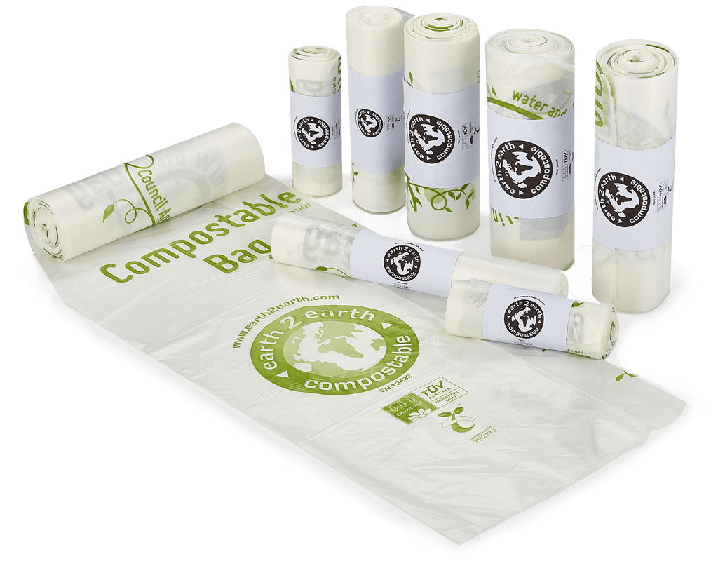 Earth2Earth Compostable Sacks - Roll of 10 - Large