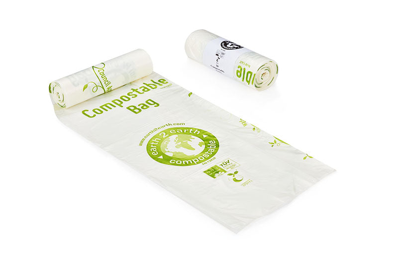 Earth2Earth Compostable Sacks - Roll of 20 - Small