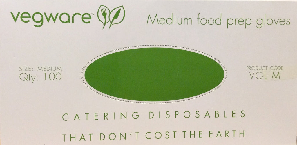Vegware Medium Food Prep Gloves compostable