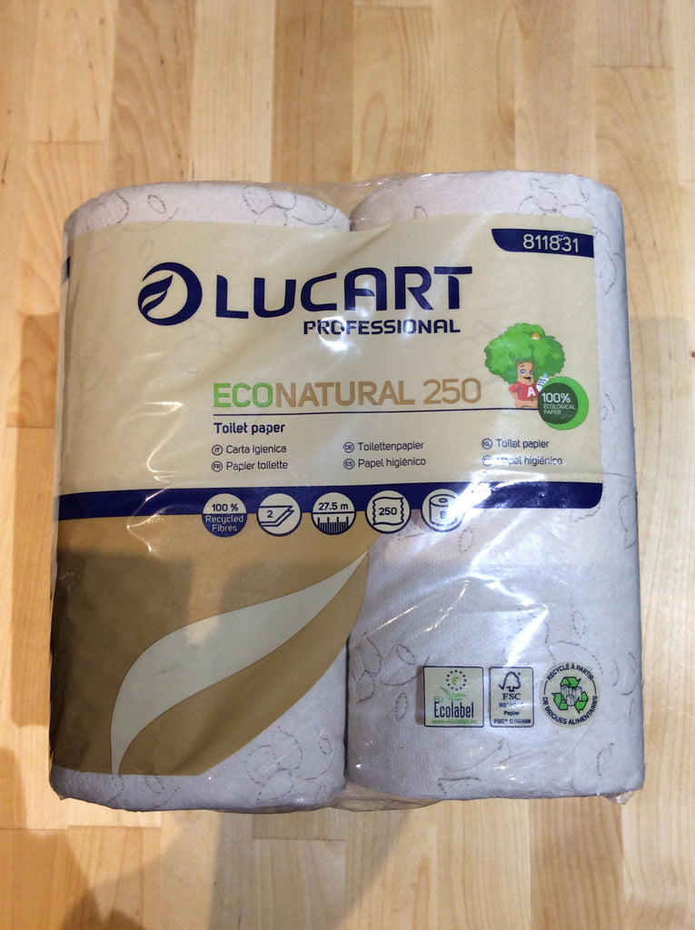 Toilet Paper Lucart Eco Natural 8 rolls, recycled from beverage cartons