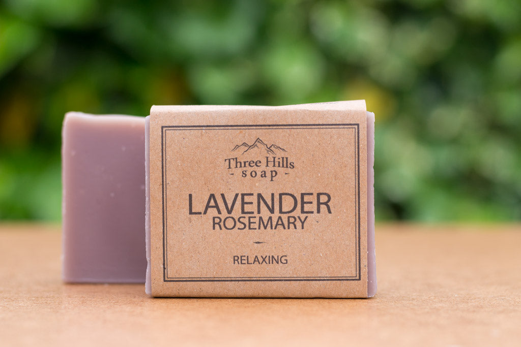 Three Hills Lavender and rosemary Soap Bar