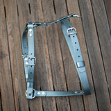 Silver and slate dog harness Australia side view