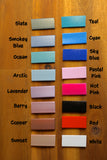 Australian Made Biothane Colour Chart for dog collars, leads and harnesses.