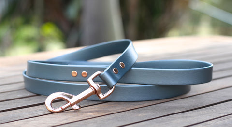 Rose Gold and Slate Dog Leash PVC Biothane