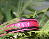 Padded Leather Dog Collar Pink Deer