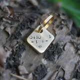 "Custom Brass 1.25"" Square Dog Tag"