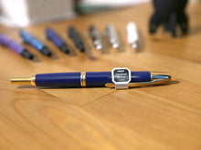 Load image into Gallery viewer, Pilot Capless aka Vanishing Point Fountain Pen - Blue/Gold - with Diamine Ink Bottle - BDpens