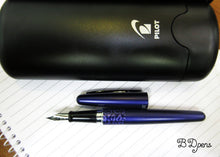 Load image into Gallery viewer, Pilot Metropolitan Blue Leopard Fountain Pen with Diamine Ink Bottle