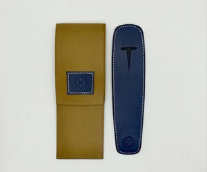 Leather Pen Pouch Single Pen PGB Navy Blue - BDpens
