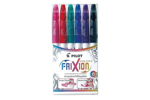 PILOT FriXion Colors - Set of 6 - Assorted colours - Medium Tip
