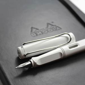 LAMY Safari Fountain Pen - White with Converter - BDpens
