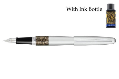 Pilot Metropolitan Animal Series Silver Python Fountain Pen - with Diamine Ink Bottle - BDpens