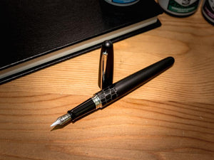 Pilot Metropolitan Black Crocodile Fountain pen with Diamine Ink bottle