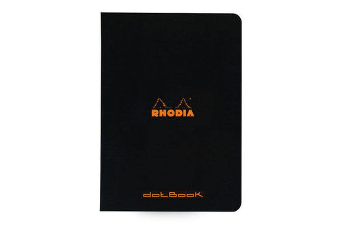 Rhodia Classic Black stapled notebook DOT A5 SLIM - BDpens