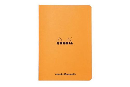 Rhodia Classic ORANGE stapled notebook DOT A5 SLIM - BDpens