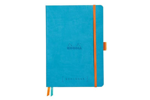 Rhodia Rhodiarama Softcover Goalbook With White Paper A5 Turquoise - BDpens