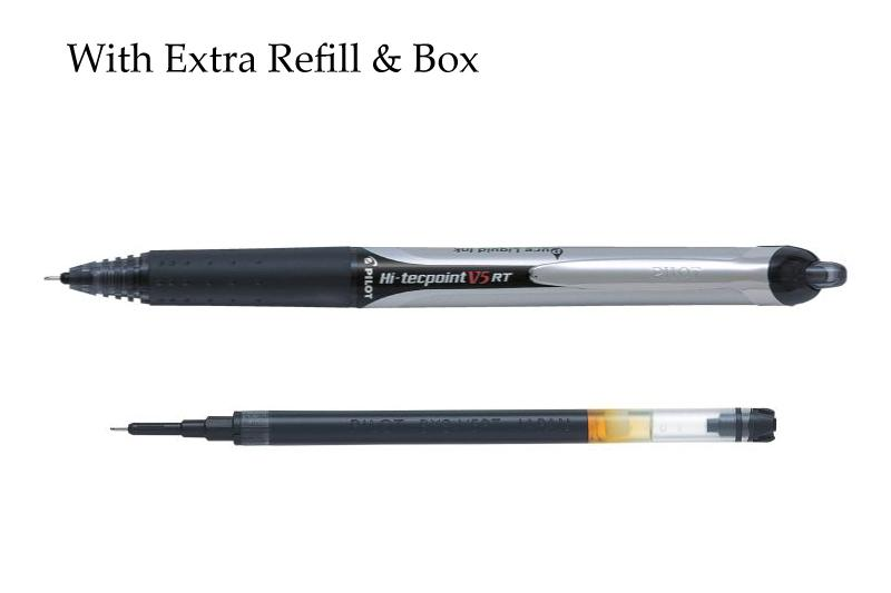 Pilot Hi-Tecpoint V5 RT Rollerball pen with extra Refill and Box - BDpens