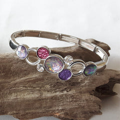 Purple multi disc bracelet