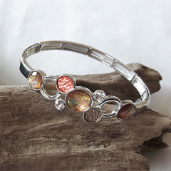Burnt orange disc bracelet