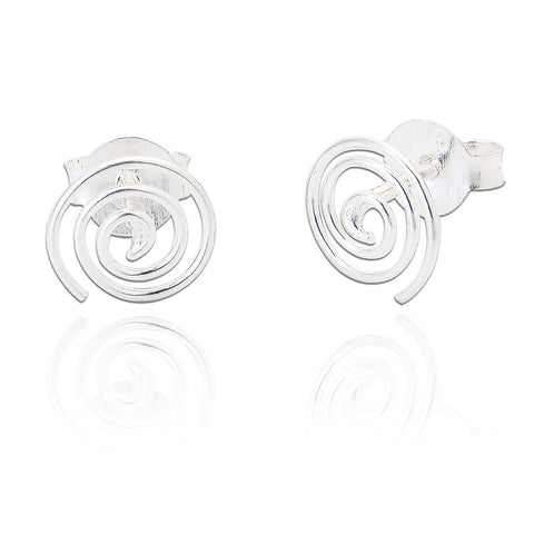 Sterling Silver Swirl Stud Earrings