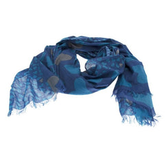 Blue Cotton Heart Scarf