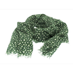 Green Heart Cotton Scarf