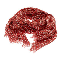 Cranberry Heart Cotton Scarf