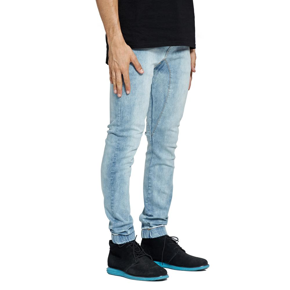 Men Stretch Denim Joggers Harem Jeans