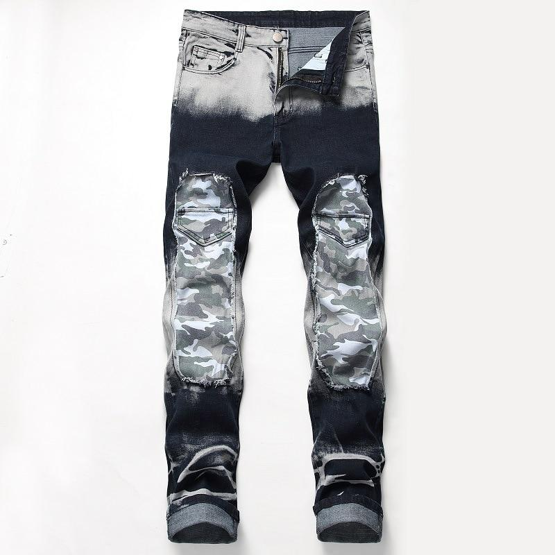Design Models Spring New Mens Skinny Biker Jeans