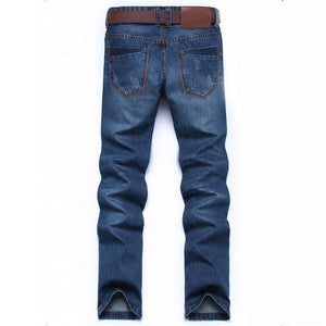 Classic retro vintage Pencil trousers Men Denim