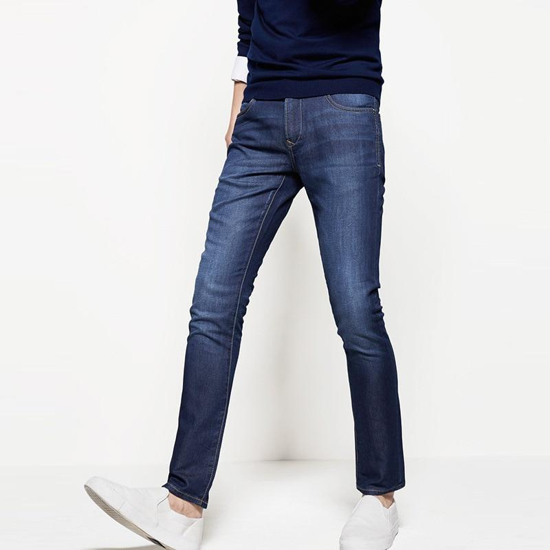 Stretch jeans male spring hot mid-rise comfort denim