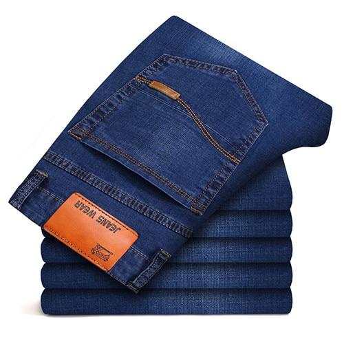 New Men's Jeans Slim Business Casual