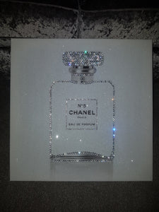 Chanel No 5 In White with Crystals