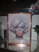Load image into Gallery viewer, Marilyn Bubble Gum Rose Gold Faux Glitter Art Print