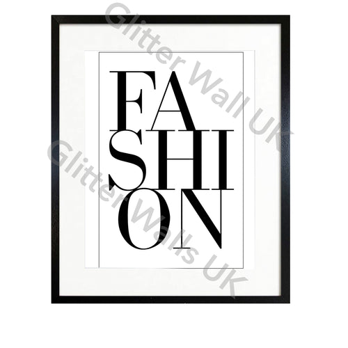 Fashion Typography Modern Art Print