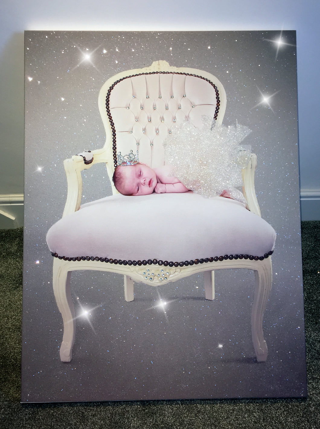 Diamond Encrusted Canvas - Your Own Image