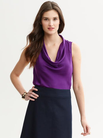 BR Draped cowl-neck tank | Side Support Bra Orlinas