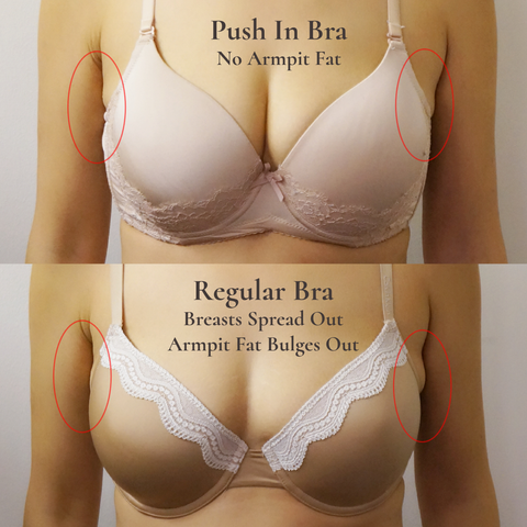 Push In No Armpit Fat Bra | FinallyBra No Bulge Bra