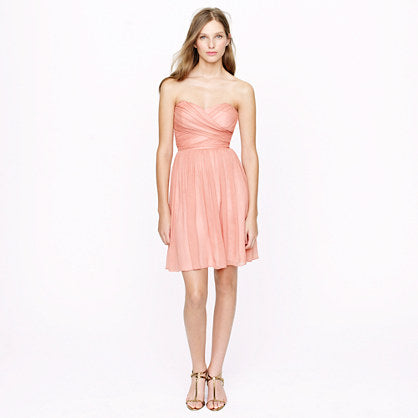 Jcrew Arabelle Dress In Silk Chiffon | Push Up In Bra Orlinas