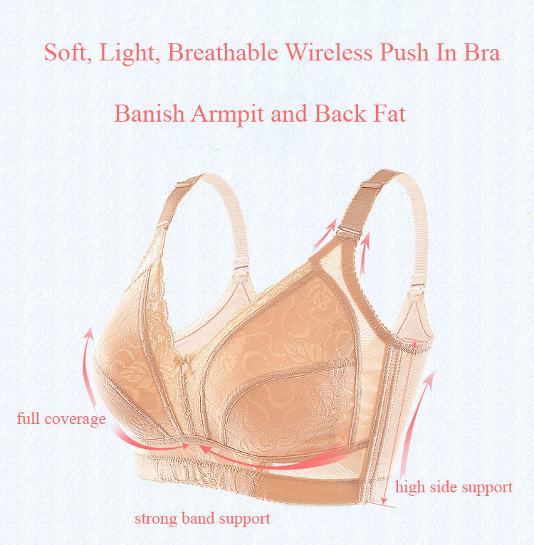 Light Breathable Push In Wireless Bra 9