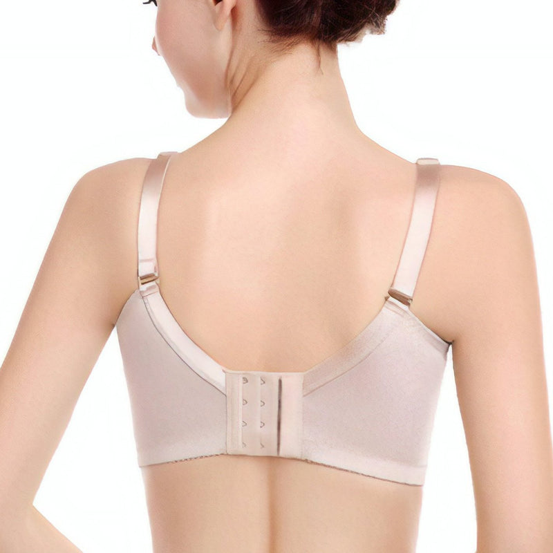 No Underarm Bulge Deep V Smooth Cup Push In Wireless Bra 4
