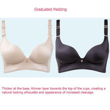 Load image into Gallery viewer, No Underarm Bulge Deep V Smooth Cup Push In Wireless Bra 9