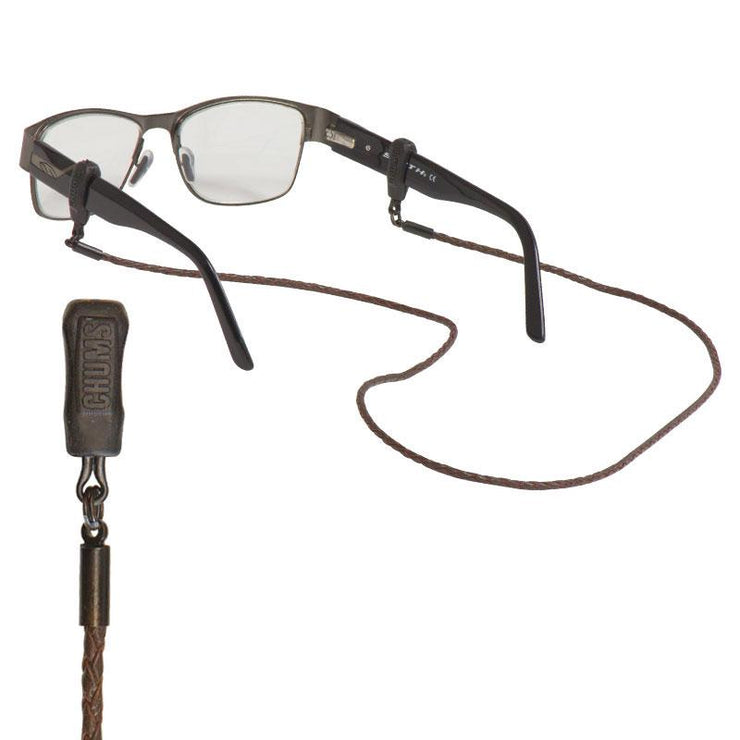 Chums Urban Braided Leather Eyewear Retainer - Outbound Mountain Gear