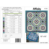 Affinity quilt pattern cover with yardage